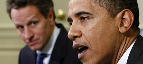 Obama, con su secretario de Economía. | Reuters