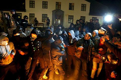 Protestas en la capital ante la situación económica. | Efe