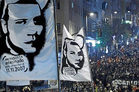 Imagen de una manifestación en 2007 en repulsa por el asesinato de Carlos Palomino. (Sergio González)
