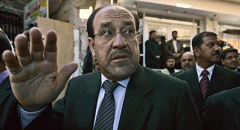Al Maliki, en la ciudad chií de Nayaf.   AP
