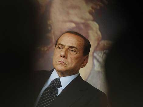 Silvio Berlusconi, durante la rueda de prensa en la que anunció el proyecto de ley.   AP