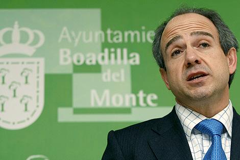 Arturo González Panero durante la rueda de prensa que ha ofrecido. | EFE