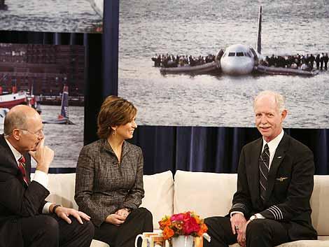 El capitán Sullenberger en el programa '60 Minutes' de la cadena de televisión CBS. | AP