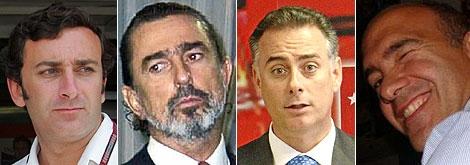 De izda.a dcha., Alejandro Agag, Francisco Correa, Alberto López Viejo y Jacobo Gordon.