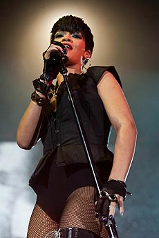 La cantante actuando en México. | EFE