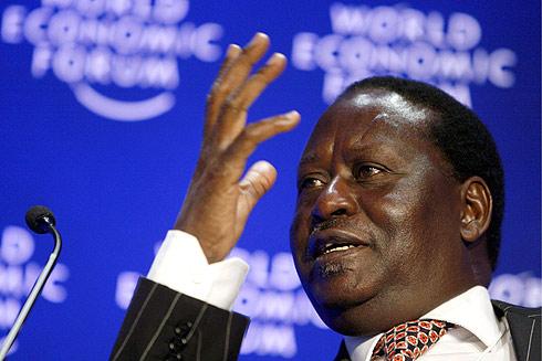 El primer ministro de Kenia, Raila Amolo Odinga, interviene en el Foro Económico Mundial en Davos (Suiza). | Efe