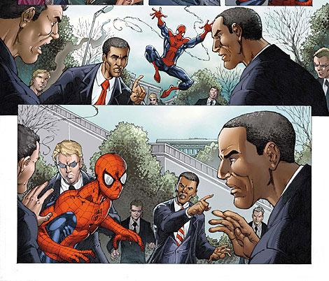 Un especial de Marvel con la presencia de Obama (Foto: Reuters)