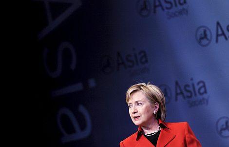 Hillary Clinton, en un discurso celebrado este viernes. | Ap