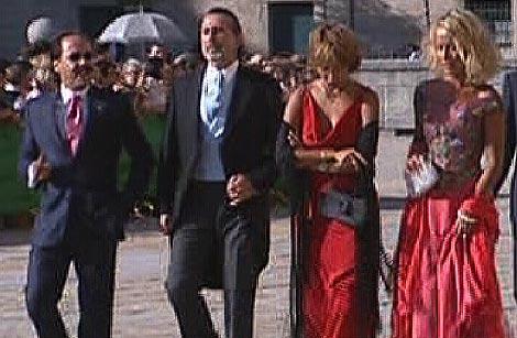 Francisco Correa (segundo por la izquierda), en la boda de Alejandro Agag y Ana Aznar.