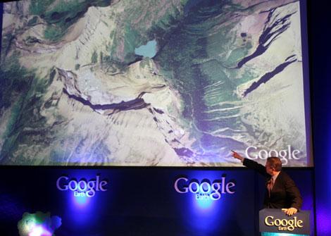 Al Gore, durante la presentación del nuevo Google Earth a principios de mes (Foto: AP)