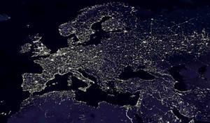 Vista de Europa desde el espacio por la noche. | El Mundo