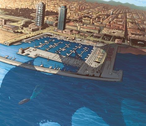 Batman llega al puerto de Barcelona.