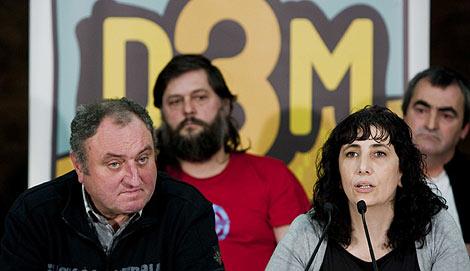 Los portavoces de D3M, Julen Aginako y Miren Legorburu. | Iñaki Andrés