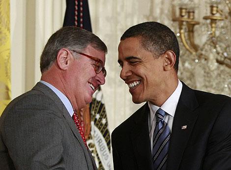 El presidente Obama y Sam Palmisano (Foto: Reuters)