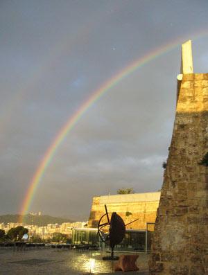 El arcoiris de esta mañana. (Foto: Luis Moranta Jaume)
