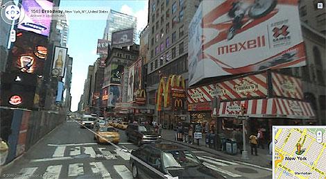 El famoso Broadway de Nueva York, en Street View