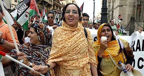 Manifestación en Sevilla a favor de la autodeterminación del Sáhara. | Conchitina