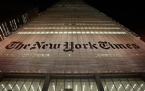 Sede del periódico en la ciudad de Nueva York. | AFP