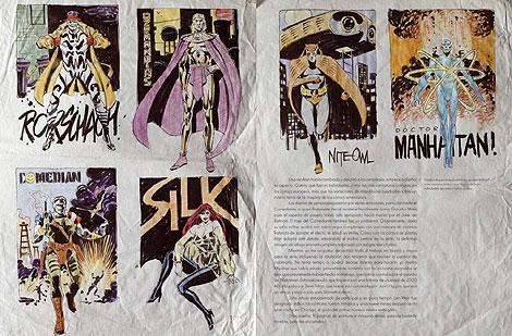 Una página de 'Watching the watchmen', el volumen que explica el cómic.   Efe