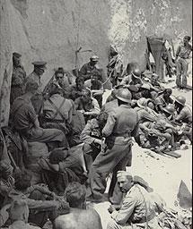 Visita de Walter a las tropas.