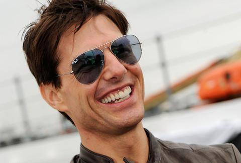 Tom Cruise, en una visita al circuito NASCAR de Daytona. | AFP