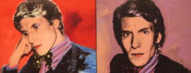 Retrato de Yves Saint-Laurent, por Andy Warhol. | AFP