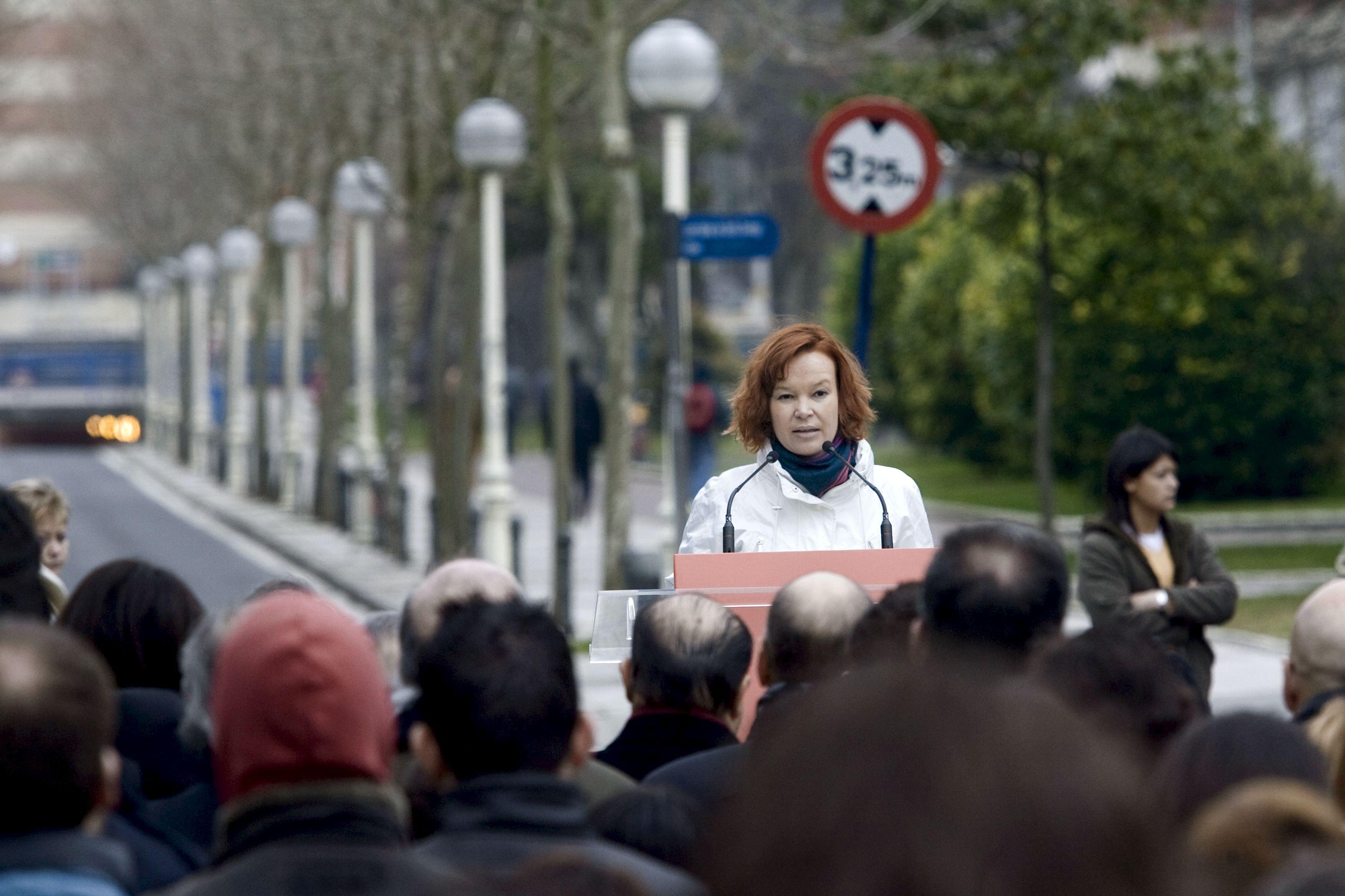 La secretaria de Organización del PSOE, Leire Pajín, en Vitoria
