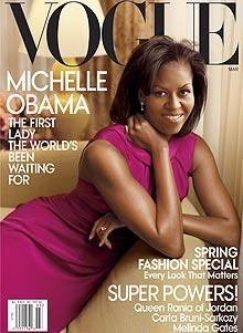 Portada de 'Vogue' con Michelle Obama fotografiada por Leibovitz.