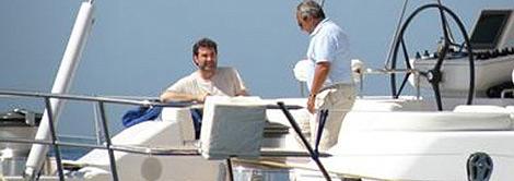Anxo Quintana, en el yate del empresario Jacinto Rey. | lanacion.es