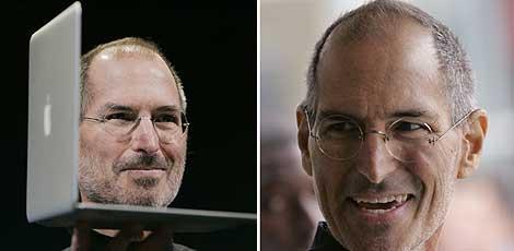 Comparativa de fotos de Steve Jobs, en septiembre y este enero. (Fotos: AP / REUTERS)