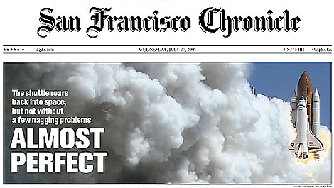 Portada del diario 'San Francisco Chronicle'.