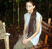 Ingrid Betancourt, durante su cautiverio.