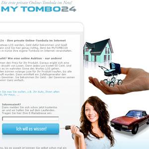 mytombo.com, de momento, sólo se sirve en alemán. | elmundo.es