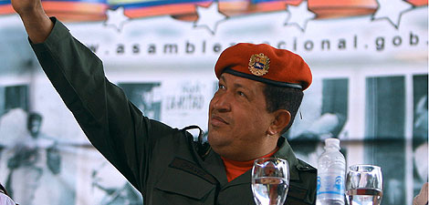 Hugo Chávez, en un discurso en la Asamblea Nacional. | AFP
