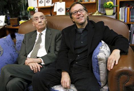 Saramago y Meirelles, durante la presentación de 'A Ciegas'. | Efe