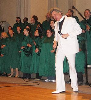 El reverendo Billy, durante una de sus ceremonias. (Foto: C.F.)