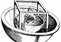 Modelo de sistema solar según Kepler.   Wikimedia Commons
