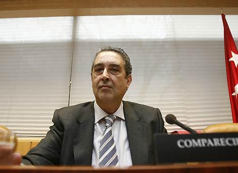 Virgilio Cano comparece en la comisión sobre espionaje. (B. Rivas)