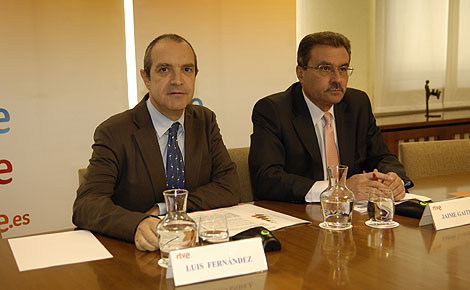Luis Fernández y Jaime Gaiteiro durante su comparecencia.