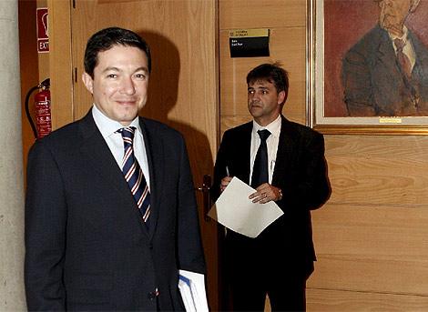 Pedro Calvo, en la comisión de investigación del espionaje. (Efe)