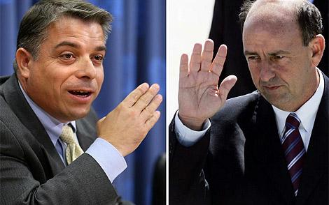 Pérez roque y Carlos Lage. | AFP