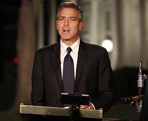 Clooney, aliado de Obama.   AP