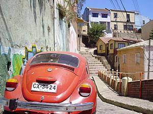 Calle de la ciudad de Valparaíso. (Foto: W. F.)
