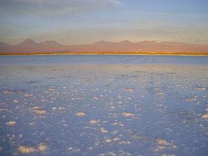 Atardecer en la Laguna Tebenquiche, en el desierto de Atacama. (Foto: W. F.)