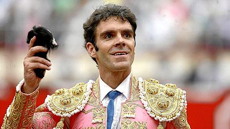 José Tomás, tras una de sus actuaciones. | Efe