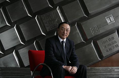 El presidente de la compañía, Liu Chuanzhi.   Foto: Reuters