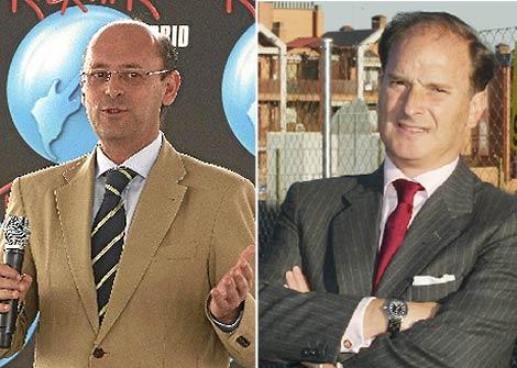Ginés López, alcalde de Arganda, y Jesús Sepúlveda, alcalde de Pozuelo. (EM)