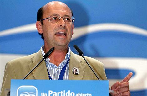 El alcalde de Arganda del Rey, Ginés López en un acto del partido. | Efe