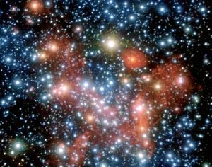 Vista de un agujero negro en la Vía Láctea. / ESO