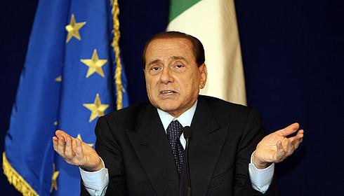 El primer ministro italiano, Silvio Berlusconi, en Bruselas. | AP